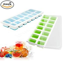 Npingxia Silicone Ice Cube Molds Ice Cube Trays with Lids 2