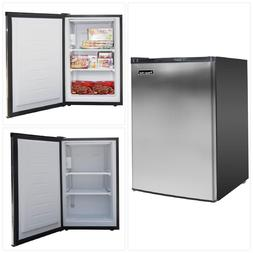 Small Upright Freezer Stainless Steel Compact Little Kitchen