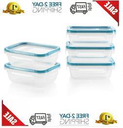 Snapware Total Solution Rectangular Plastic Meal Prep Food S