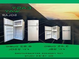 SOLAR TOP FREEZER REFRIGERATOR OFF GRID DC 12/24 Volts