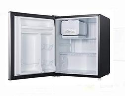 stainless look compact dorm refrigerator