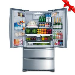 SMAD Stainless Steel French Door Refrigerator with Auto Ice
