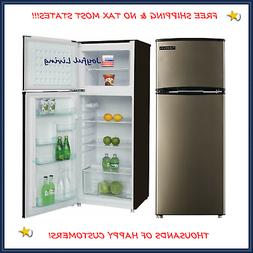 Stainless Steel  Refrigerator Freezer 7.5 cu ft Reversible D