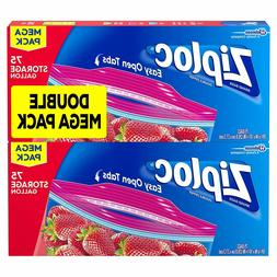 Ziploc Storage Bags, Gallon, Mega Pack, 150 ct