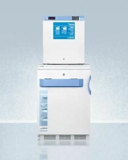Summit 24'' All-Refrigerator/All-Freezer Combination - White