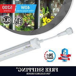T8 6ft LED Cooler / Freezer tube V Shape 40w 5000k clear 520