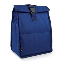 PackIt TB-RT-SNY Freezable Rolltop Lunch Bag, One Size, Navy