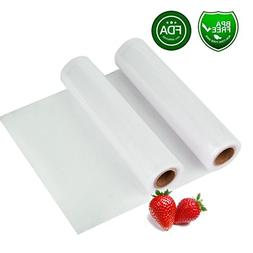 "Two 8""X118"" Rolls Vacuum Sealer Bags, 8Mil Thickening Commer"