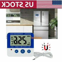 US Digital Freezer/Fridge Thermometer with Magnet and Stande