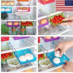 US Slide Fridge Kitchen Space Freezer Organizer Storage Rack
