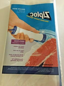 Ziploc Vacuum Pump Freezer GALLON Bags  13 Count NEW  ziploc
