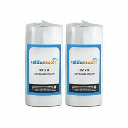 Houseables Vacuum Sealer Rolls, Sous Vide Bags, Two , Large