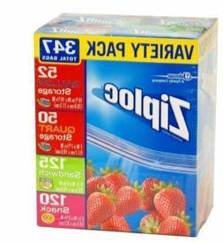 Ziploc Variety Pack 347 Total Bags
