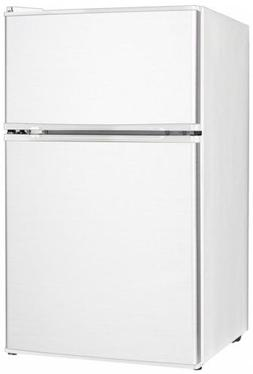 Midea WHD-113FW1 Compact Reversible Double Door Refrigerator