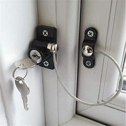 Tuscom Child Baby White Window Door Restrictor| Adjustable S