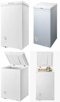 midea WHS-129C1 Single Door Chest Freezer, 3.5 Cubic Feet, W