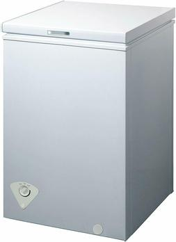 Midea WHS-129C1 Single Door Chest Freezer 3.5 Cubic Feet, Wh