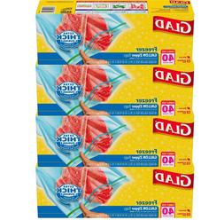 Glad Zipper Food Storage Freezer Bags - Gallon - 40 Count -