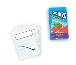 Ziploc ZL20QB3 Vacuum Seal Quart Bags, Clear, 20-Pack