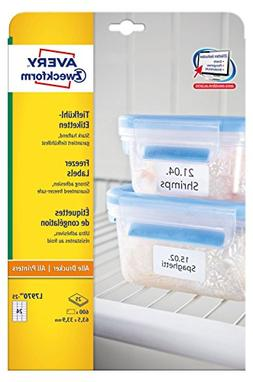 Avery Zweckform L7970-25 Deep Freezer Labels / 63.5 x 33.9 m